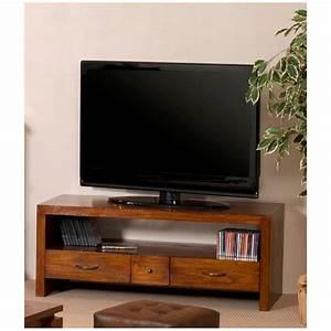 Meuble Tv Petit : meuble tv 2 grands tiroirs 1 petit tiroir meubles macabane meubles et objets de d coration ~ Teatrodelosmanantiales.com Idées de Décoration