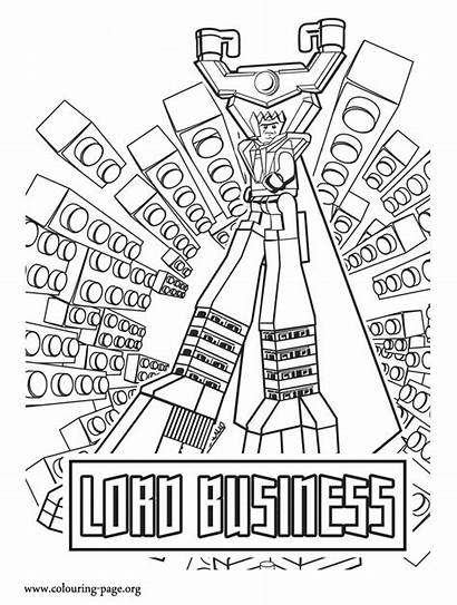 Lego Coloring Pages Lord Business Printable Colouring