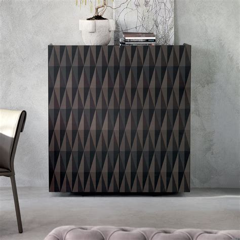 Arabesque wooden sideboard with geometric pattern