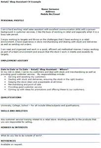 How To Include References In Cover Letter Retail Assistant Cv Exle Icover Org Uk