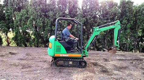 bobcat  mini excavator diesel  hours expandable tracks youtube