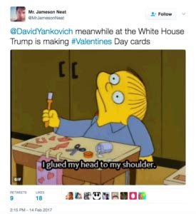 trump funny valentines day cards white house entity entity