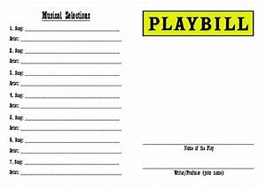 front of quotdesign your own playbillquot drama activity With playbill template free