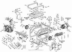 Homelite Bm907000 7000 Watt Generator Parts Diagram For General Assembly