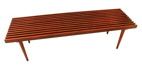 Coffee Bench by Mid Century Slatted Wood Bench Coffee Table George Nelson