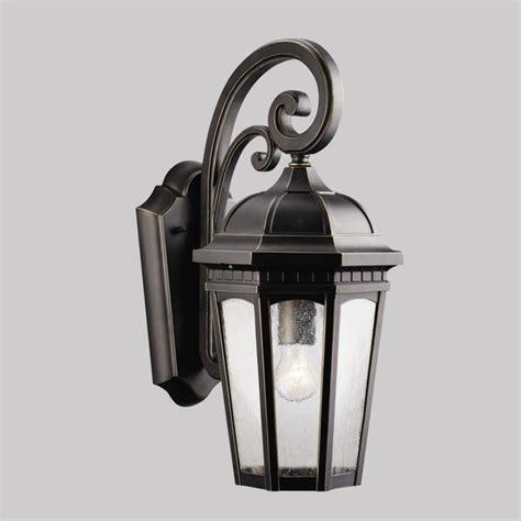 kichler lighting 9033rz courtyard one light outdoor