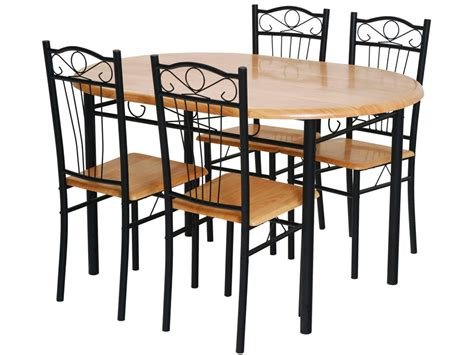 ensemble table chaises cuisine ensemble table 4 chaises quot sally quot noir 52767