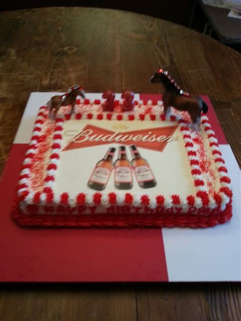 ideas  budweiser cake  pinterest beer