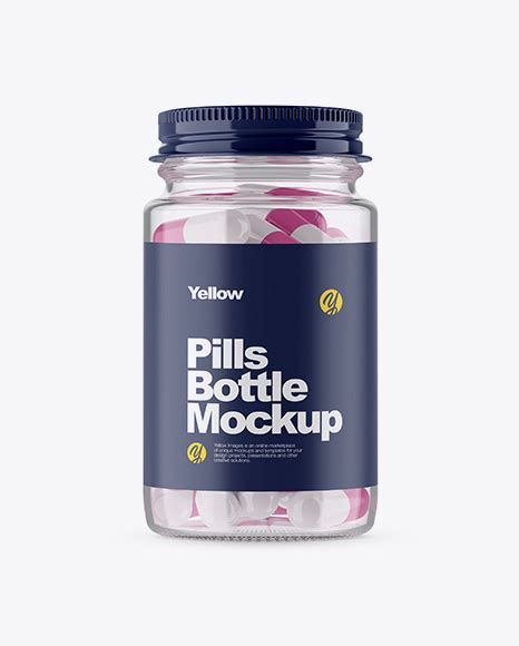 In this article you can find not only single wine bottle mockups but a wide range of wine bottles sets with various angles , textures, backgrounds, stages. Clear Glass Pills Bottle Mockup in Bottle Mockups on ...