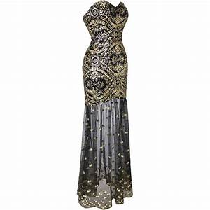 Black and Gold High Low Occasional Dress Style #AF25 - BU ...