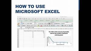 Make A Graph In Excel How To Input Data And Graph Using Excel Youtube