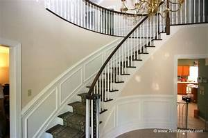 Double, Chair, Molding, And, Picture, Framing, In, Foyer, And, Along, Stairs