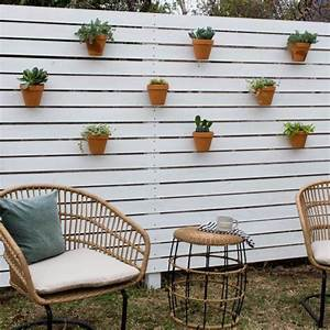 How, To, Make, A, Simple, Horizontal, Privacy, Fence, With, Hanging, Planters