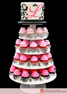 monogram tree topper sweet 16 ombre cupcake stand pink cake box