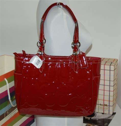 Coach Red Patent Leather Handbag