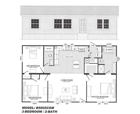 his and bathroom floor plans 3 bedroom floor plan b 5005 hawks homes manufactured