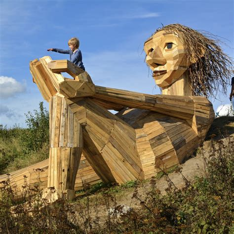 danish artist  recycled wood   jaw dropping