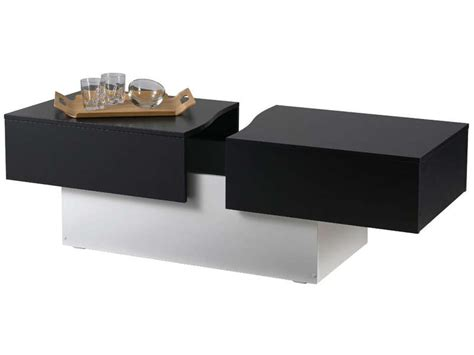 canapé gris conforama table basse city box coloris noir blanc vente de table