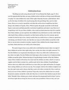 Abby's Child labour Essay