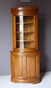 Meuble En Angle : encoignure meuble de coin en merisier ~ Edinachiropracticcenter.com Idées de Décoration
