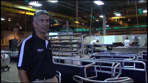 Tahoe Boats Factory by Tahoe Pontoon Boats Factory Tour Part 1