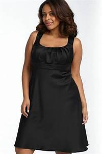 robe courte noire grande taille avec bretelles pour With robe noir grande taille