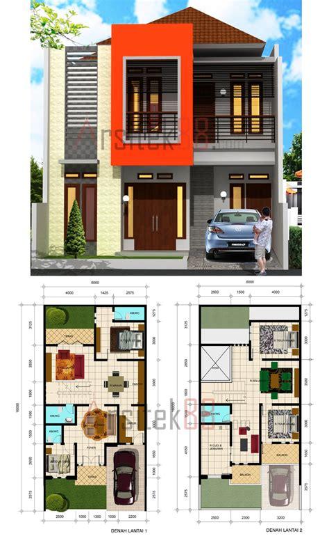 model rumah modern  denah