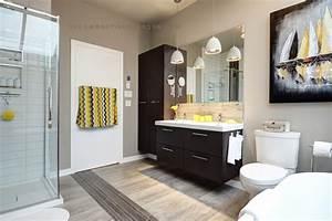 salle de bain renovee fenetre rehausseemartine bourdon With salle de bain design avec décoration de salle à manger moderne
