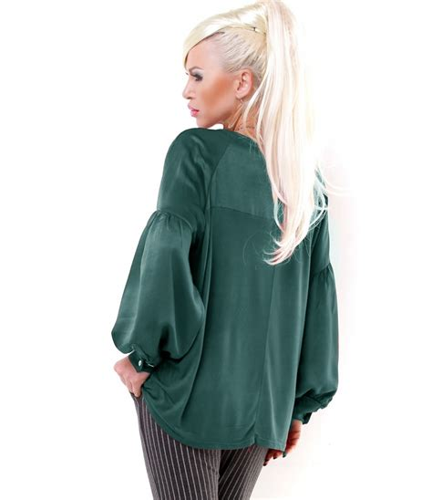 Blouse Glossy bluse h trend glossy petrolgr 252 n blusen