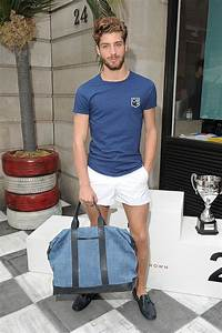 Orlebar Brown SS14. The tight royal blue t-shirt and white short shorts lend a very athletic ...