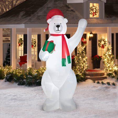 giant polar bear airblown inflatable christmas prop
