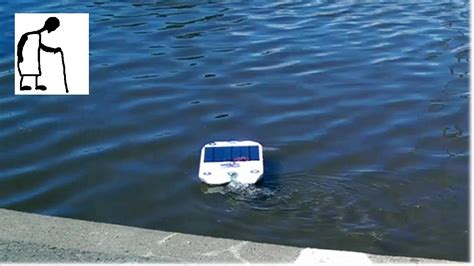 Solar Powered RC Boat Stage #5 Sunny day on the lake - YouTube
