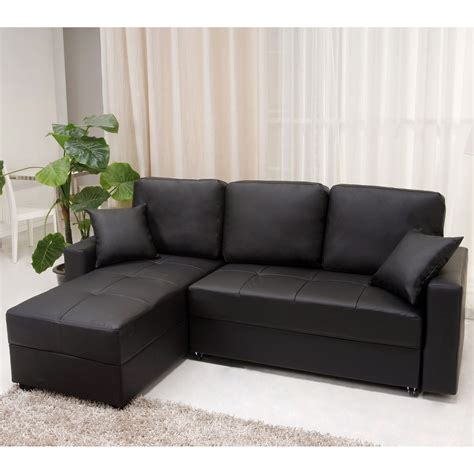 Black Leather L Shaped Sofa Modern L Shaped Simple White