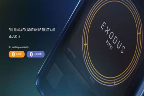 htc exodus 1 blockchain smartphone launched and up for pre
