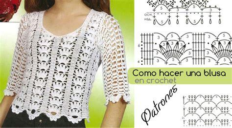 blusa a crochet con patrones hermosa y f 225 cil de tejer ganchilloganchillo