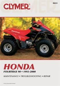 Clymer Workshop Manual Honda Fourtrax 90 Atv 1993