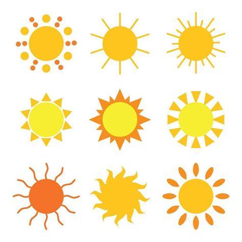cartoon suns clipart  digital  shop