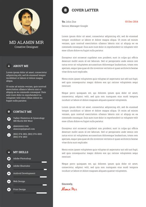 design resume awesome cv
