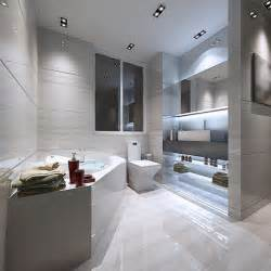 White Vanity Makeup Station by 59 Modern Luxury Bathroom Designs Pictures