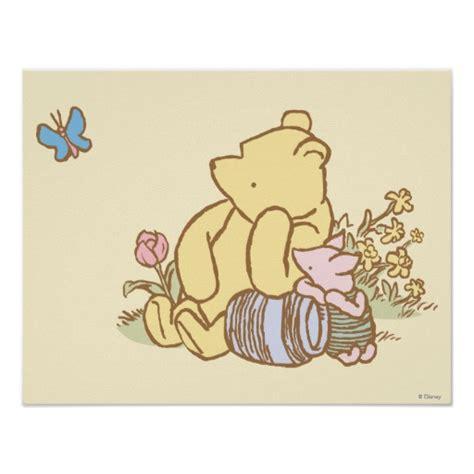 classic winnie  pooh  piglet  poster zazzle