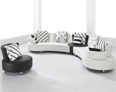 black and white leather sofa set white and black bonded leather sectional sofa set 44l2803