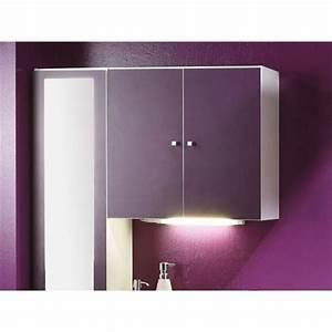 Meuble Mural Salle De Bain : meuble mural de salle de bain 2 portesprune 9 achat vente petit meuble rangement meuble ~ Teatrodelosmanantiales.com Idées de Décoration