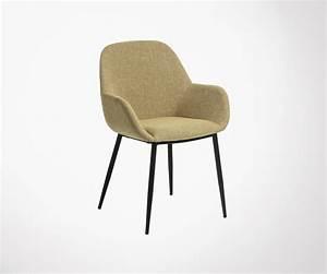 Chaise Tissu Salle A Manger : chaise design salle manger en tissu avec pieds m tal ~ Dallasstarsshop.com Idées de Décoration