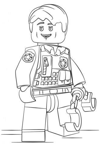lego verdeckt ermittelder polizist ausmalbild  malvorlage lego ausmalbilder kostenlos lego