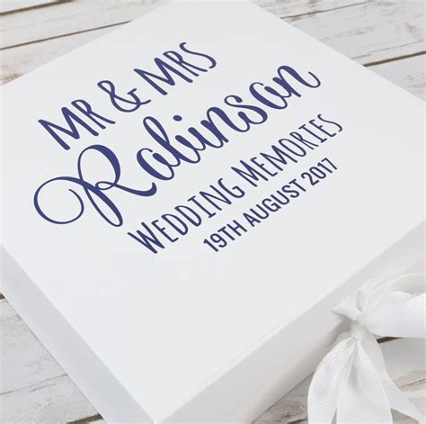 wedding keepsake box prezzely