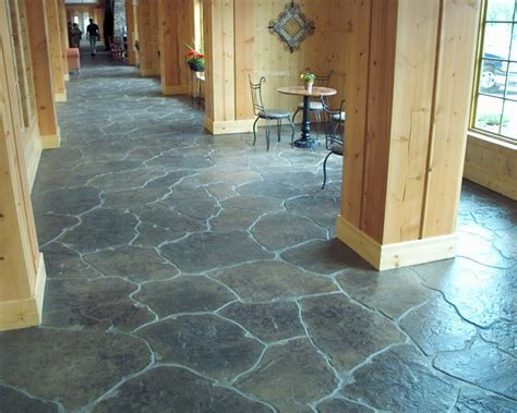 Stamped Concrete Patio Floor Design & Pattern With [10