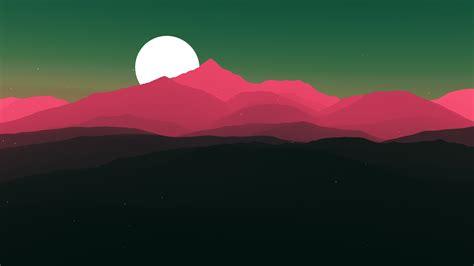 wallpaper moon sun mountains minimal  minimal