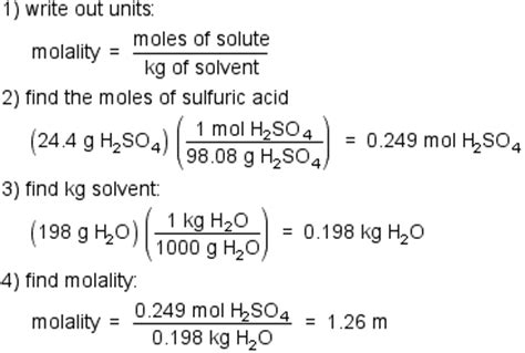 Convert Molality To Molarity Using Density