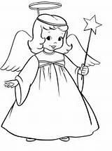 Angel Coloring Angels Pages Christmas Printable Drawing Wand Magic Winged Drawings Simple Clipart Printables Line Colouring Cliparts Azcoloring Outline Adult sketch template