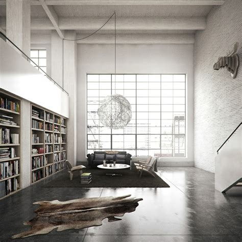 loft library interior design ideas
